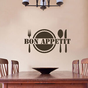 Image Is Loading Kitchen Bon Appetit Wall Decal Quote Eat Dining