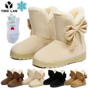 Women-039-s-Winter-Warm-Suede-Ankle-Snow-Boots-Fur-Thicken-Ski-Flats-Casual-Shoes-9