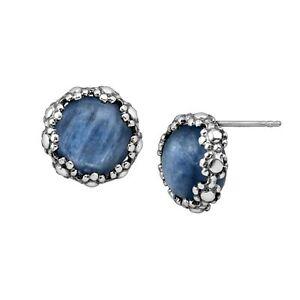 Silpada-039-Reflecting-Pool-039-Natural-Kyanite-Stud-Earrings-in-Sterling-Silver