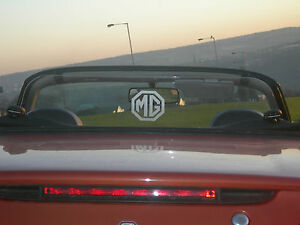 MG-MGF-MGTF-CLEAR-WIND-DEFLECTOR-no-drilling-fits-in-minutes-free-logo