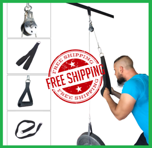 Cable Machine Attachments Tricep Rope D-Handle Cable Pully Optional for Gym Fitn