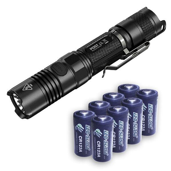 Nitecore P12GT Flashlight XPL HI V3 1000Lm w8x FREE EcoSensa CR123A Batteries
