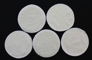 4 Stück Stilleinlagen BW-Frottee/Wolle/Bourette Seide 3-lagig 13,2 cm NEU