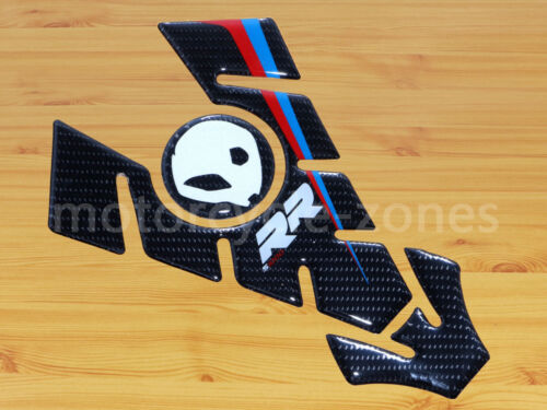 For BMW S1000RR Carbon Fiber Oil Fuel Gas Tank Pad Decal Protector Sticker Real