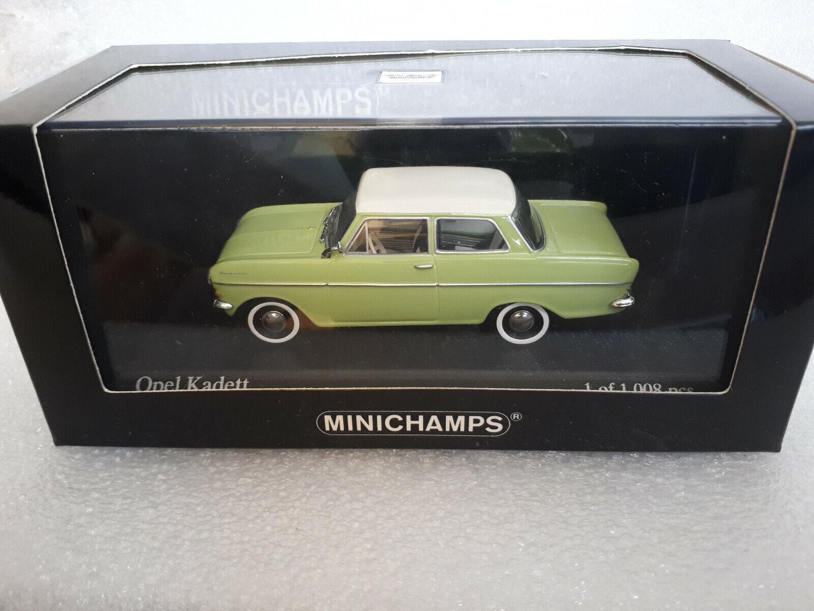 OPEL KADETT A 1962 Green white 1 43 MINICHAMPS 430 043009