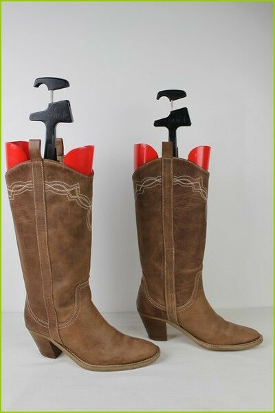 Andre Brown Leather Boots T 37 Excellent Quality