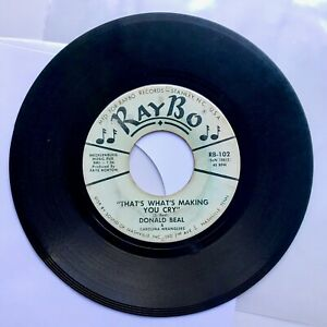 60's Rockabilly 45 - DONALD BEAL - That's What's Making You Cry / In Care of Me