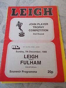 7-12-80-Leigh-v-Fulham-programme-John-Player-Trophy