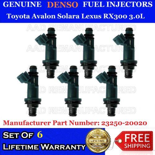 6x Genuine Denso Fuel Injectors for Toyota Avalon Solara Lexus RX300 3.0L