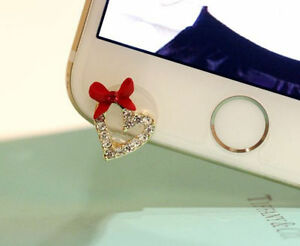 Bow-amp-Heart-3-5mm-Front-Anti-Dust-Ear-Cap-Plug-For-iPhone6s-6s-Plus-5th-6-6-Plus