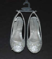 9cb7296240b0 item 1 NEW Joe Fresh Girls Silver Glitter Ballet Flats Bow Sparkle Silver  Shoes 2 Youth -NEW Joe Fresh Girls Silver Glitter Ballet Flats Bow Sparkle  Silver ...