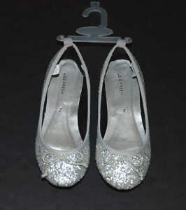 NEW Joe Fresh Girls Silver Glitter
