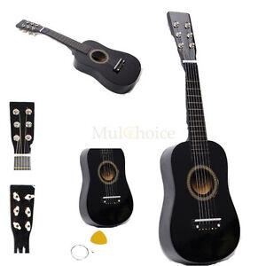 Mini Practice Guitar : new 23 plywood acoustic mini guitar 6 string for kids beginners practice black ~ Vivirlamusica.com Haus und Dekorationen
