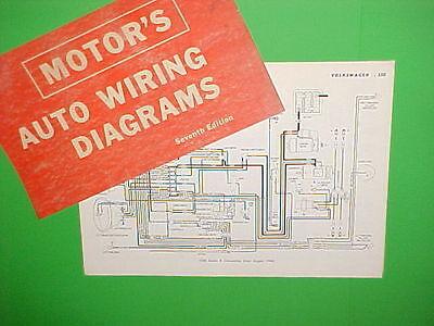 1963 1964 1965 1966 1967 Vw Volkswagen Karmann Ghia Beetle Wiring Diagrams Ebay