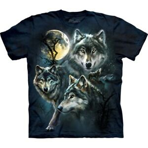 Moon Wolves Collage | Kids Wolf T-shirt | The Mountain