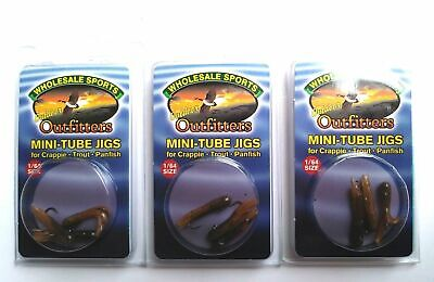 3 PACKAGES Mini Tube Jigs With Hooks Size 1//64 Color Candy Cane      Item Jig 17