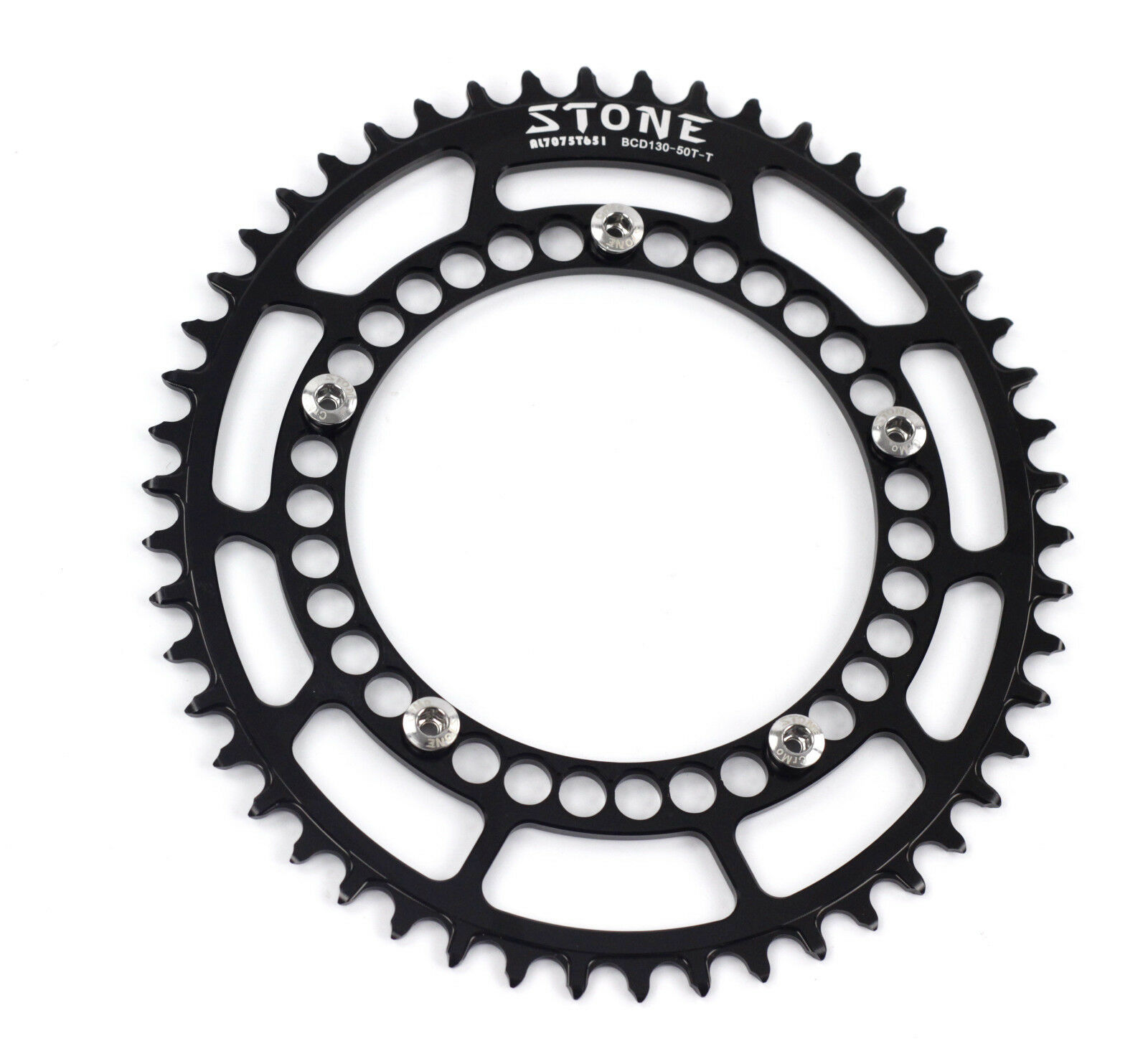 Stone AL7075 Oval Chainring Narrow Wide for Brompton Road Bike BCD130mm