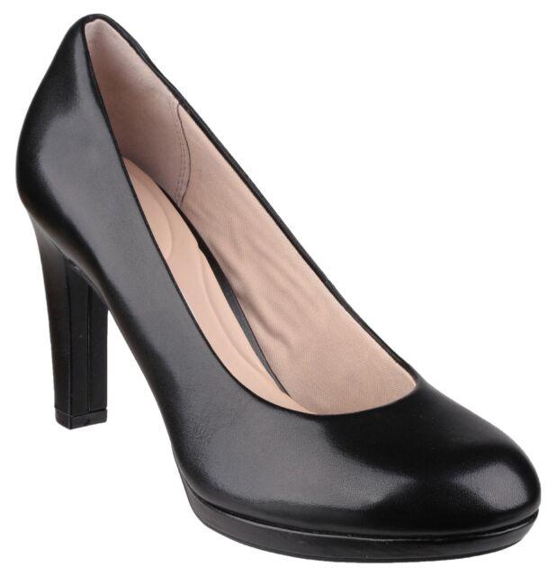 a8a72365e7783 Rockport Seven To 7 Ally Plain Pump Ladies Black Leather Womans Court Shoe