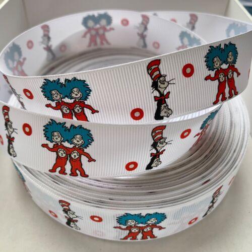 Yard Dr Seuss Gato En El Sombrero Thing 1 y 2 caracteres Retro De Cinta del Grosgrain