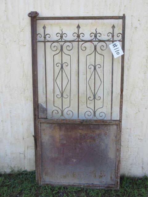 Antique Victorian Iron Gate Window Garden Fence Architectural Salvage Door #110