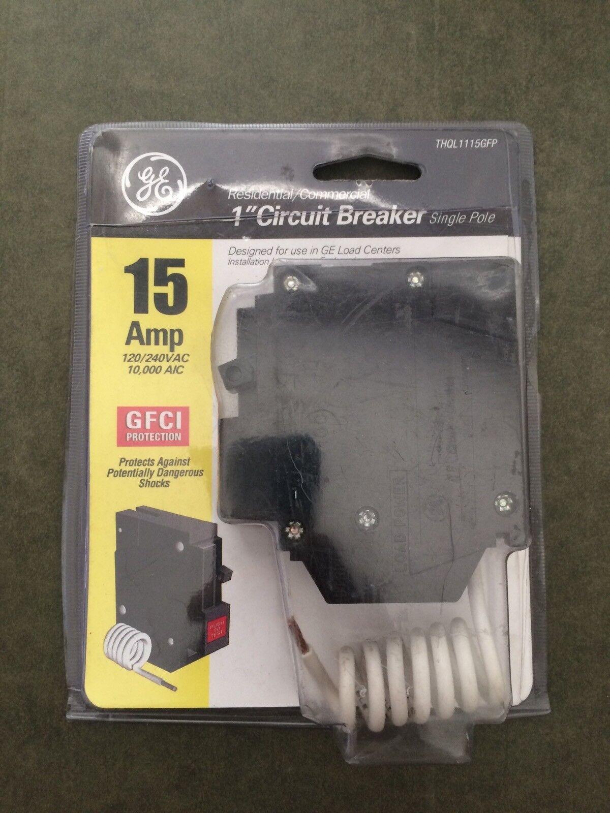 Ge 1 Circuit Breaker 15 Amp Pole Thql1115gfp Ebay Shop Qline Thql 20amp 1pole Ground Fault At