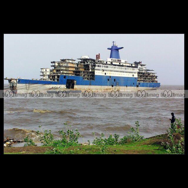 #php.01107 Photo SS NORWAY BLUE LADY ALANG PAQUEBOT FRANCE OCEAN LINER