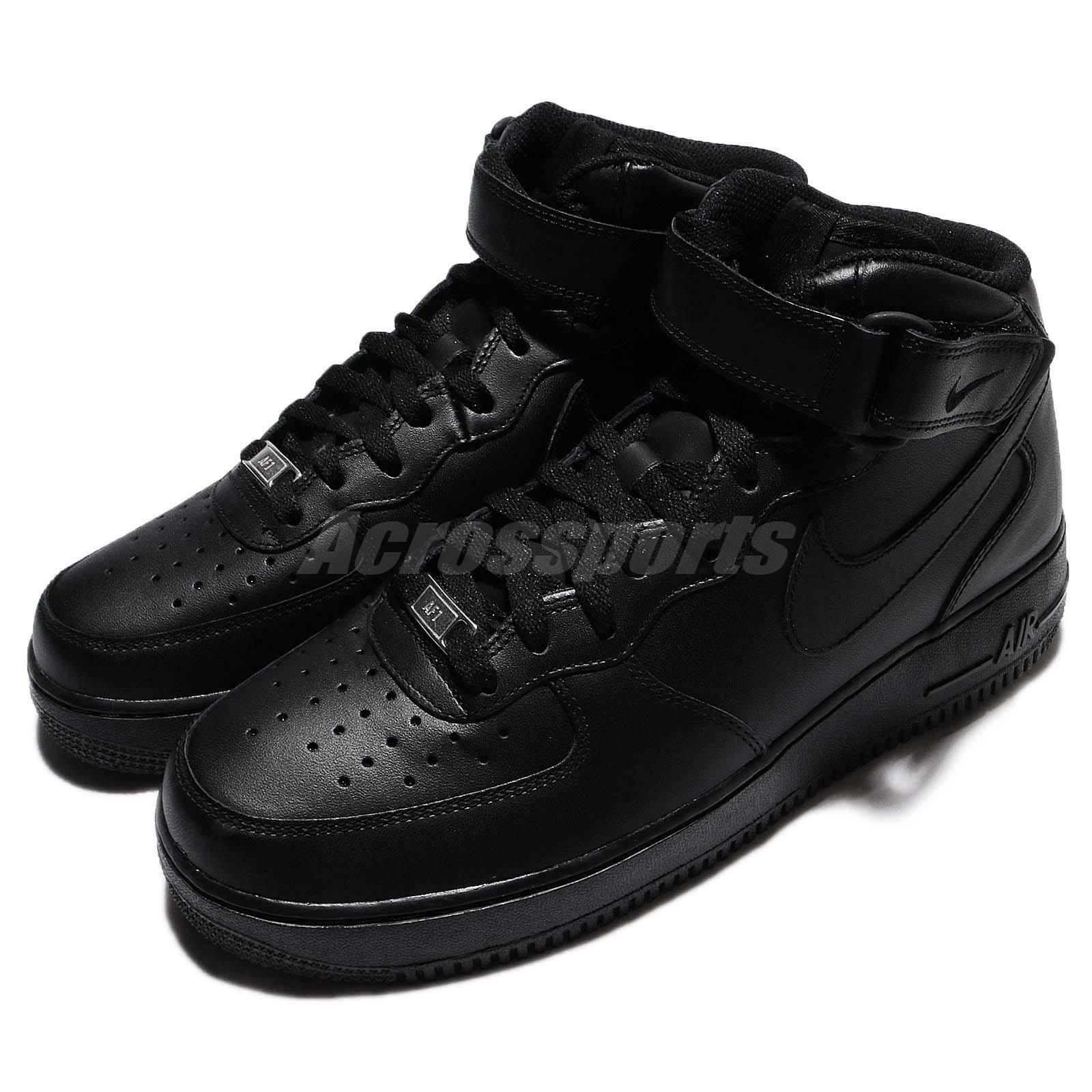 Nike Air Force 1 Mid 07 Noir Mens Classic AF1 Chaussures Baskets 315123-001