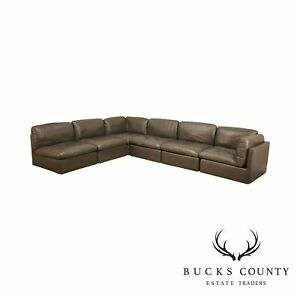 Italian Modern Leather Sectional Sofa