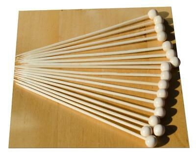 Palla In Legno Su Un Bastone Di Legno Spiedo 14 Cm X100-goto-
