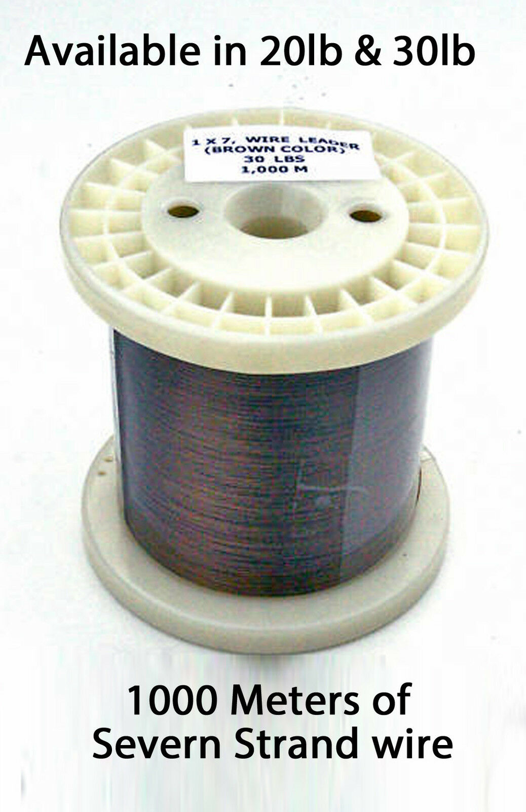 Seven Strand Pike & Trace Wire 1000mtr Spools Available in 20lb & 30lb