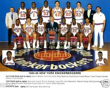 1985-86 NEW YORK KNICKS 8X10 TEAM PHOTO PATRICK EWING CARTWRIGHT BERNARD KING