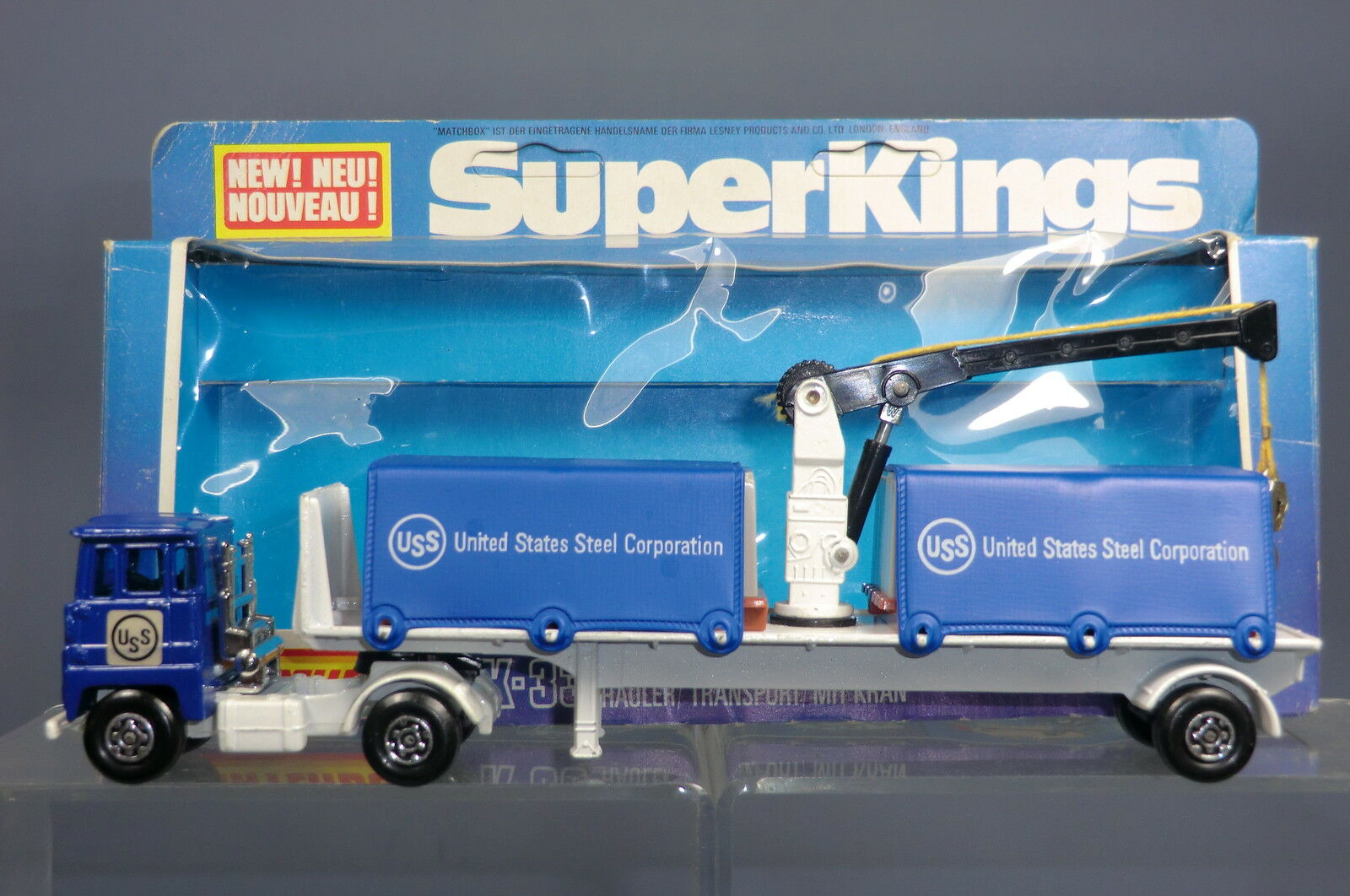 MATCHBOX SUPER KINGS No.K-33 SCAMMELL CARGO HAULER UNITED STATES STEEL CORP. MIB