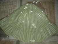 Girls Size M Chez Ami Patsy Aiken Lime Green Stripe Sun Hat Chin Strap