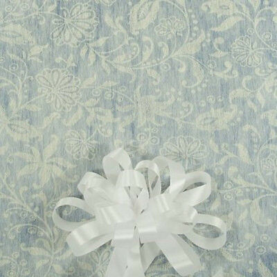125/' Ivory Floral Lace Print  Wedding Aisle Runner W//Tape/&Rope