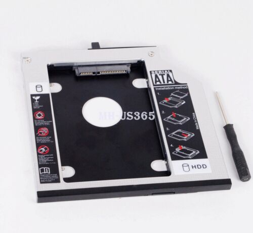 2nd SATA HDD SSD Hard Drive Caddy Adapter for Lenovo ThinkPad T410s T420s T430s
