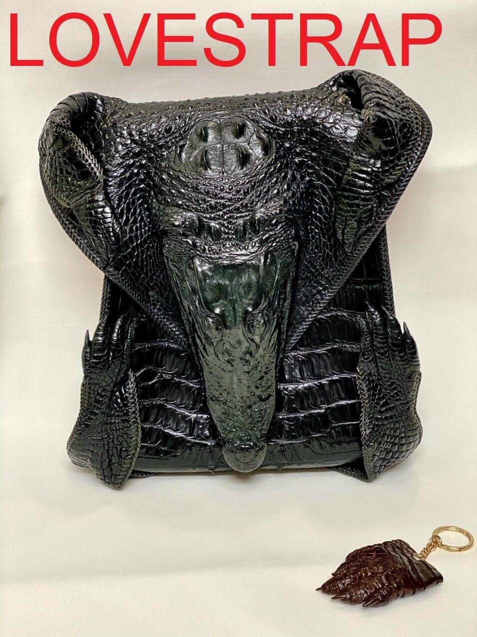 Men Luxury Genuine Crocodile Alligator Skin Leather Handbag/ Shoulder Bag Travel