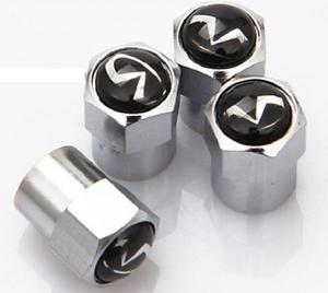 4 x Argent Chrome Pneu Valve Dust caps compatible avec Infinit