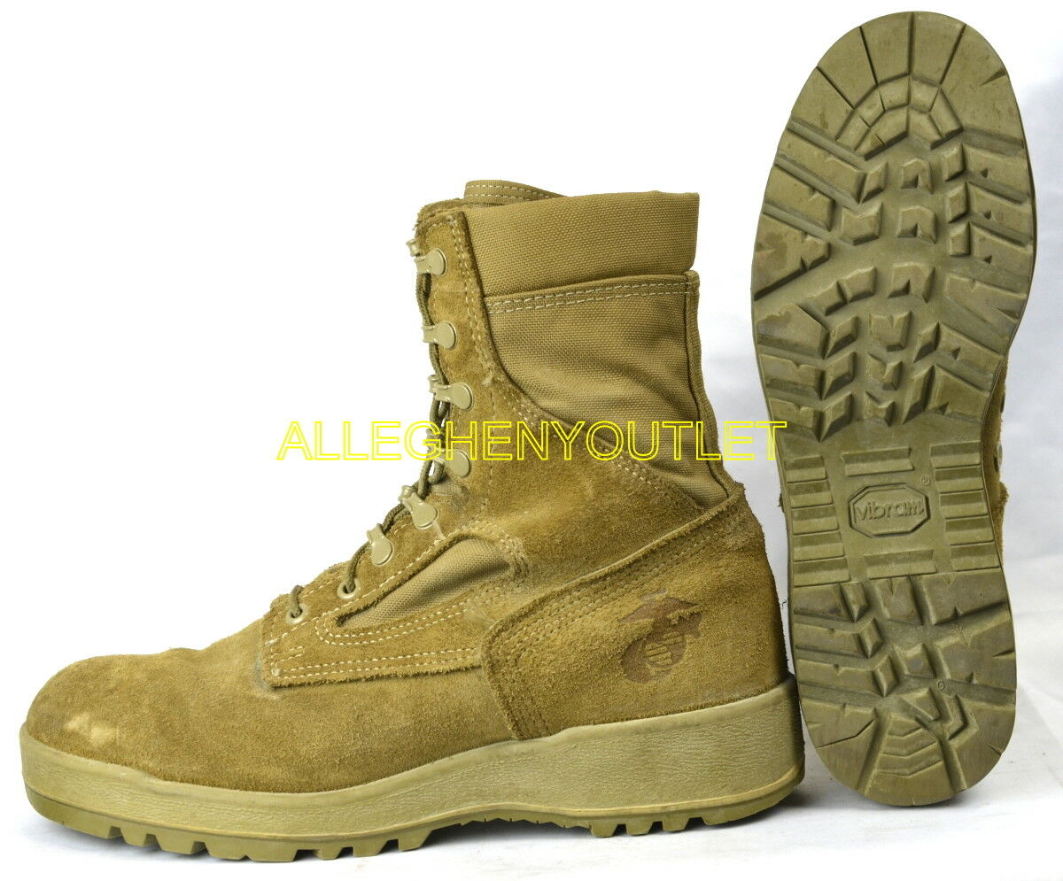 USMC US Military HOT WEATHER COMBAT Stiefel Vibram Soles Coyote USA Made MINT