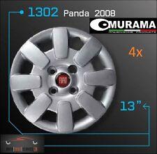 4 original murama 1302 COPRI RUOTA PER CERCHI 13 POLLICI FIAT PANDA 2008 logo rosso