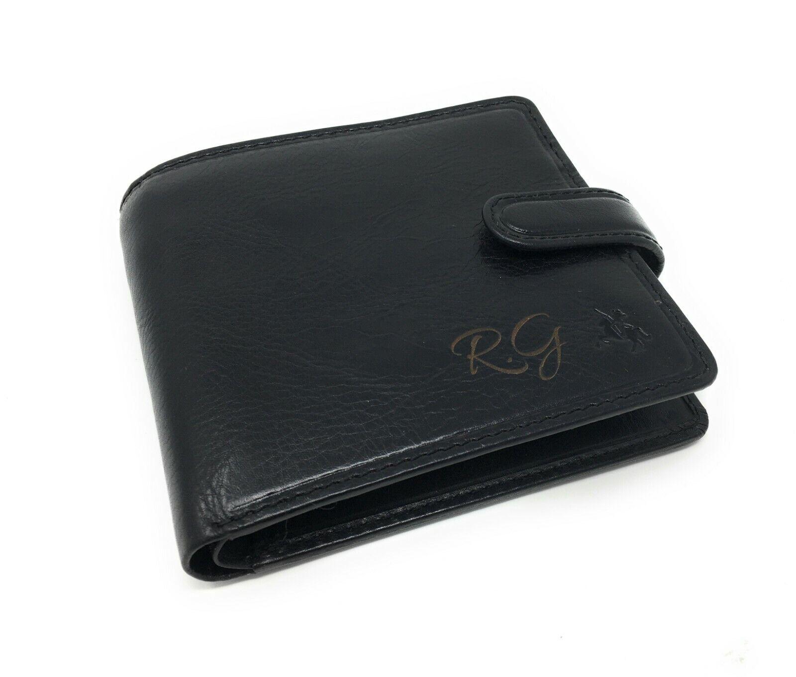 Personalised Luxury RFID Leather Wallet Birthday Best Man Wedding Mens Gift
