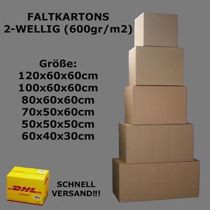 kartons 2 wellig 600gr m2 dhl versandkartons karton ebay. Black Bedroom Furniture Sets. Home Design Ideas