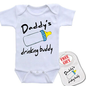 "Gift Set /"" Daddy/'s Fishing Buddy /""Custom Printed baby bodysuit romper one piece"
