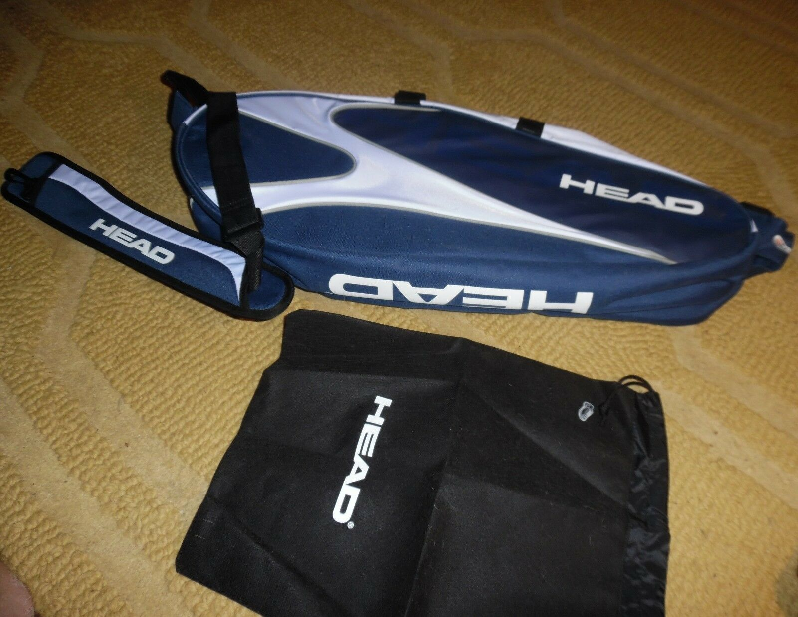 HEAD TENNIS BAG APT SUPERCOMB COMPLETE UNUSED HAS COOLEARTH TAGS ATTACHED