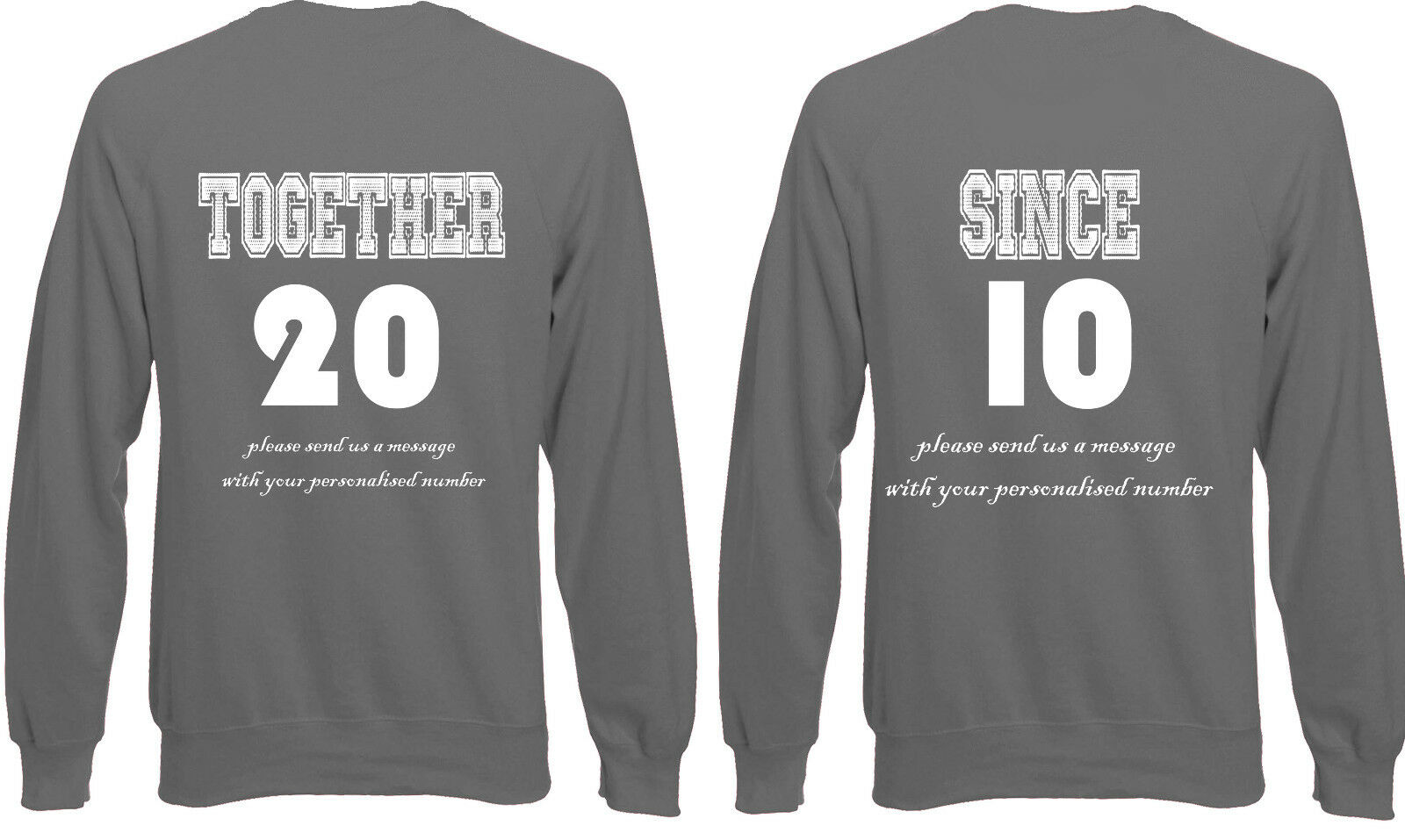 Together Since Couples Love Valentines  Jumper Sweater Pullover AJ25