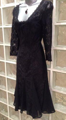 Nuovo nero Uk Louise pizzo vestito 99 £ Monsoon Rrp 10 SSFxqRrP