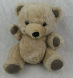 Vintage-Dan-Dee-MTY-Bear-Stuffed-Plush-Animal-Toy-Brown-Tan-Jointed-Teddy-16-034