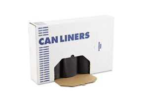Boardwalk SH-Grade Can Liners 38 x 58 60gal 1.2mil Black 25//Roll 4 Rolls//Carton