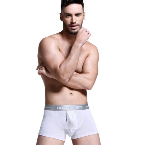 Men Separate Underwear Scrotum Sac Pockets Boxer Modal U Convex Boxer Lt X0DE