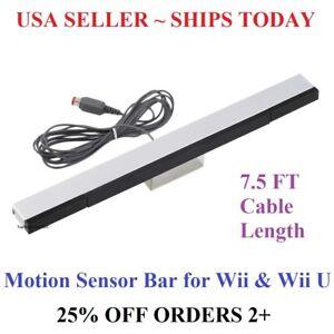 Wired-Infrared-Sensor-Bar-for-Nintendo-Wii-Wii-U-Remote-USA-Seller