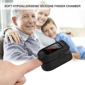 Finger Blood Oxygen Saturation Monitor Oximeter Fingertip Sensor Fast Spo2 Read